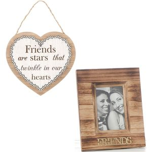 Friends Photo Frame with Heart Plaque Gift Set