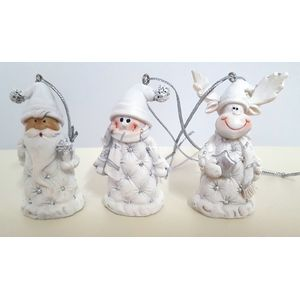 Weiste Christmas Tree Decorations Set of 3 - Reindeer Santa & Snowman