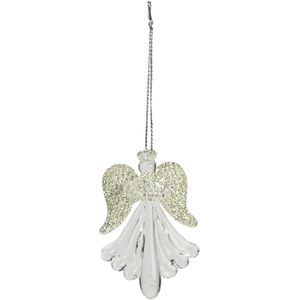 Weiste Christmas Hanging Ornaments - Glass Angels (Pack of 4)