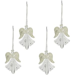 Weiste Christmas Tree Decorations Set of 4 - Glass Angels