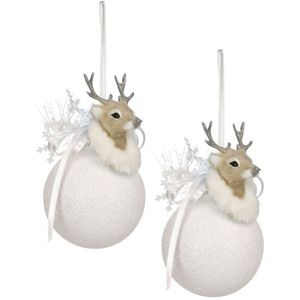 Weiste Christmas Tree Decorations Set of 2 - Bauble with Reindeer