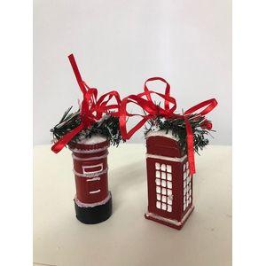 Red British Phone Box & Mail Box Tree Ornaments