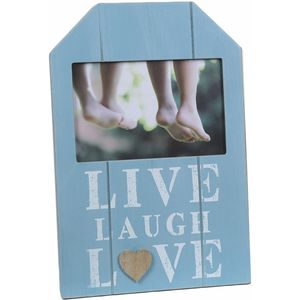 "Wooden Photo Frame ""live Laugh Love"" ""5.5x3.5"""