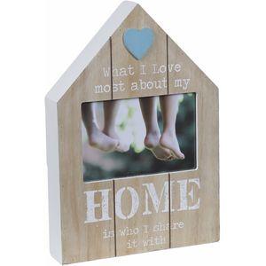 "Wooden Senitiment Photo Frame 6"" x 4"" - Family - Home"