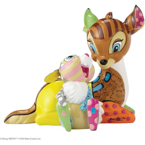 Bambi with Thumper the Rabbit a Disney by Britto Figurine Ref: 4055230