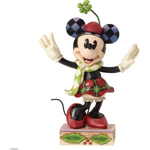 Disney Traditions Merry Minnie Mouse Festive Figurine