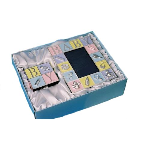 ABC Photo Frame & Money Box Gift Set