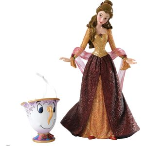 Disney Christmas Belle Figurine with Chip Ornament