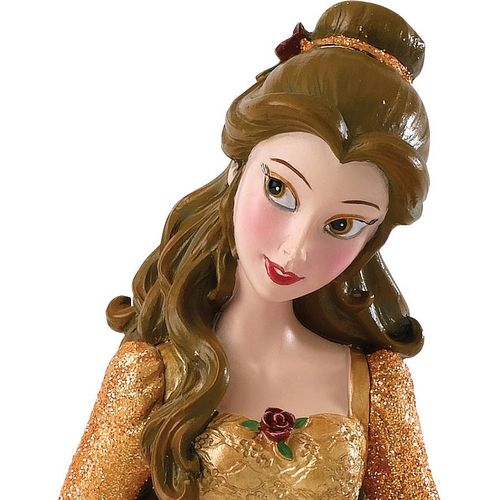 Disney Showcase Christmas Belle Figurine with Chip Hanging Ornament