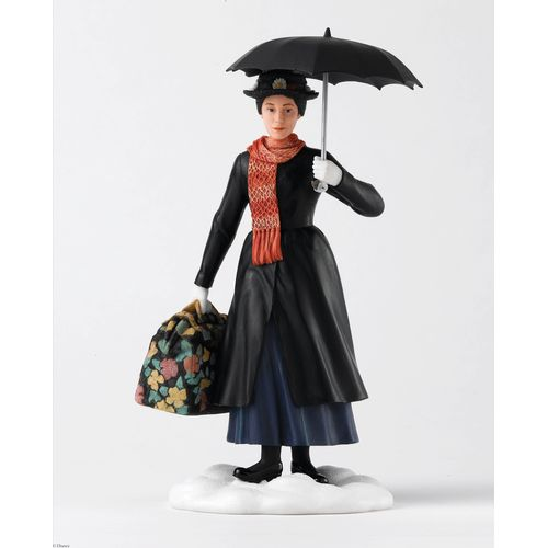 Disney Mary Poppins figurine in classic dress with umbrella