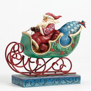 Heartwood Creek Enjoy the Ride Figurine Santa in Sleigh