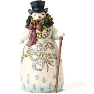 Snowman with Wreath Be Joyful Always