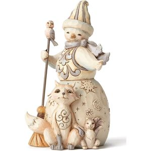 Heartwood Creek White Woodland Figurine Snowman&Friends