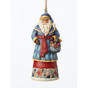 Heartwood Creek Hanging Ornament Santa with Basket