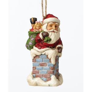 Heartwood Creek Santa in Chimney Hanging Ornament