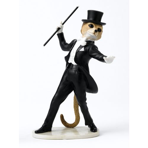 Dancer Fred in Top Hat & Tails Meerkat Figurine