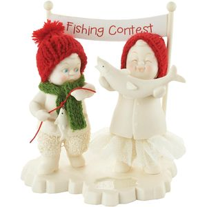 Snowbabies Figurine - Fishing Contest