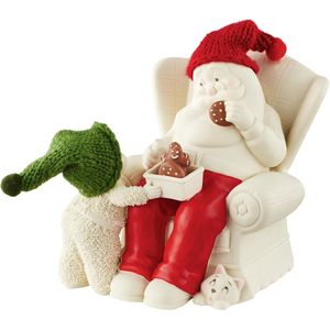 Snowbabies Cookies with Santa Figurine