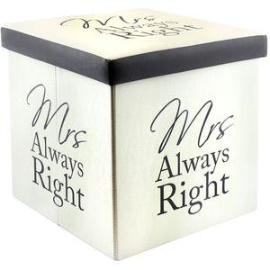 Fold Up Storage Box - Mrs Right