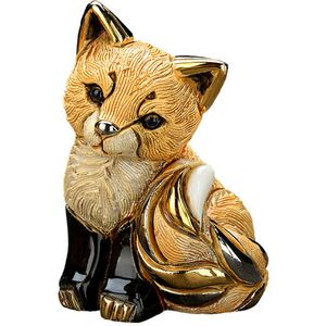De Rosa Baby Red Fox Cub Figurine