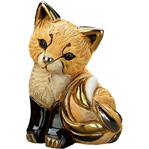 De Rosa Red Fox Cub Figurine