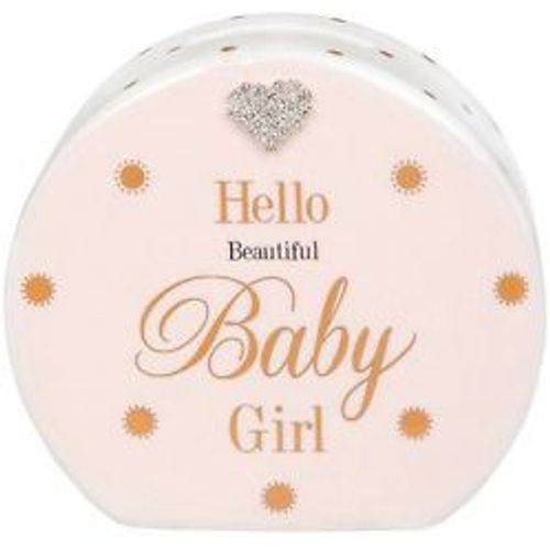 Baby Girl Money Bank with Gold dots design