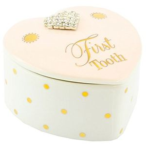 Mad Dots First Tooth Trinket Box - Baby Girl