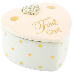 Mad Dots First Curl Trinket Box - Baby Girl