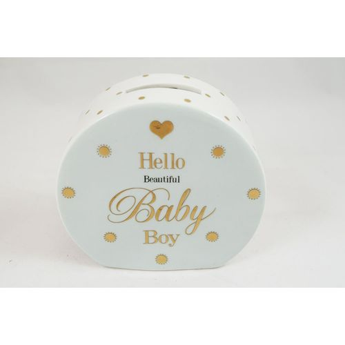 Baby Money Money Box with gold dots design