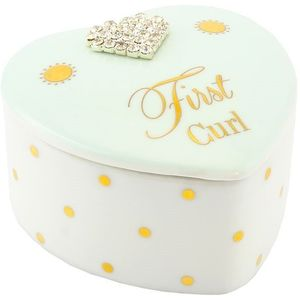 Mad Dots First Curl Trinket Box Baby Boy