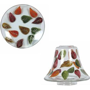 Aroma Jar Candle Shade & Plate Set: Falling Leaves