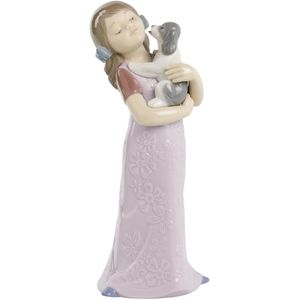 Nao Puppy Cuddles (Girl with Puppy) Figurine