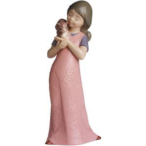 Nao Kitty Cuddles Figurine (Girl with Kitten)