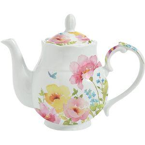 Watercolours by Dora Papis Porcelain Tea Pot