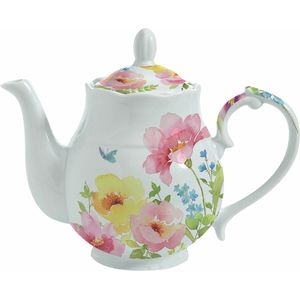 Watercolours Porcelain Tea Pot