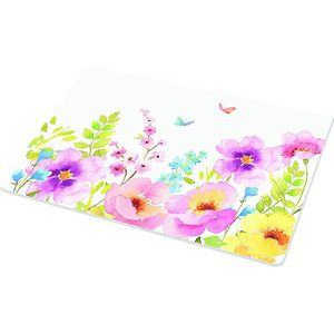 Watercolours Glass Worktop Protector 40x30cms