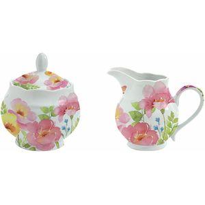 Watercolours by Dora Papis Porcelain Milk Jug & Sugar Bowl Set
