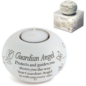 Said with Sentiment Guardian Angel Candle Holder