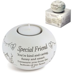 Said with Sentiment Candle Holder: Special Friend