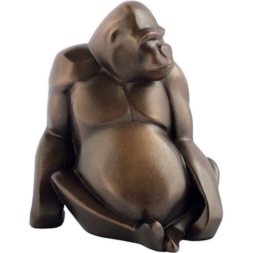 Arora design Gorilla figurine in bronze finish