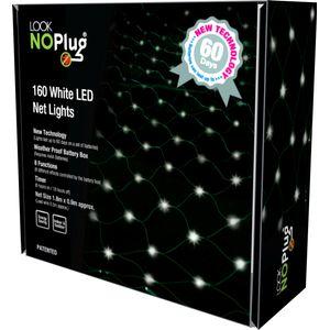 Christmas Lights - Net Light 160 LNP LED Multi Function No Plug (White)