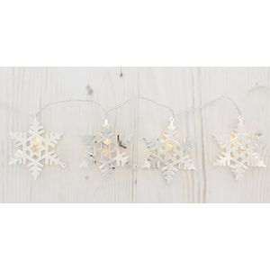 Christmas Lights - 10 LED Battery Operated Indoor Snowflake Lights