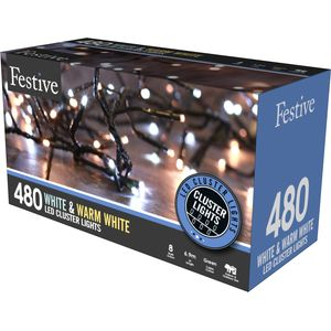 480 LED Multi Function Cluster Lights - White & Warm White