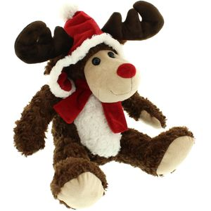 Festive Reindeer with hat & scarf