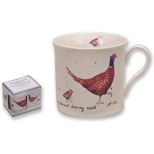 A Pleasant Bracing Walk - Pheasant Fine China Mug