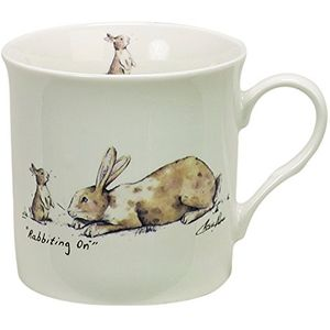 Rabbiting On - Rabbits Fine China Mug