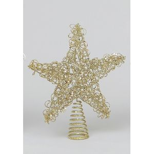 Wire Christmas Tree Topper Champagne