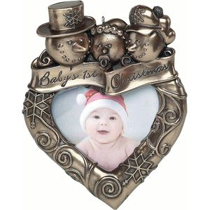 Genesis Bronze Finish Photo Frame - Babys First Christmas