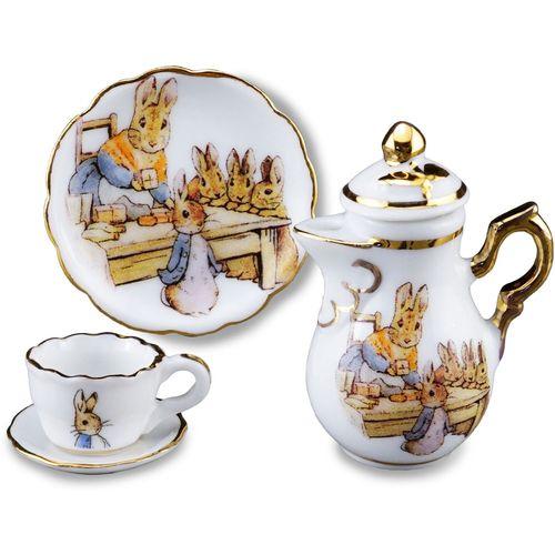 Reutter Porcelain Beatrix Potter Mini Teapot plate cup & saucer set