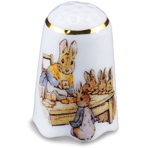 Reutter Porcelain Beatrix Potter design Thimble 150th Anniversary